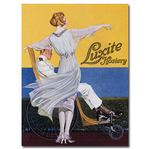 Coles Phillips 'Luzite Hoisery Vogue Magazine' Canvas Art 18 x 24