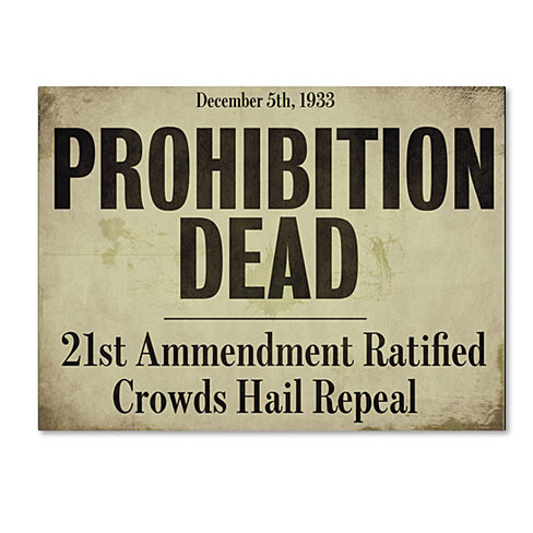 Color Bakery 'Prohibition' 14 x 19 Canvas Art