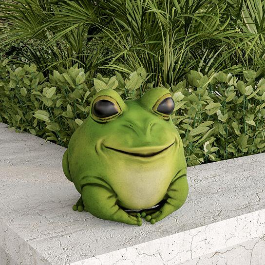 Buy Cute Fat Frog Big Eyes Garden Flower Bed Decor Bright Green