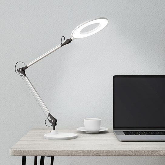 Buy Desktop Swing Arm Architect Desk Lamp Led Ring Light Stepless Dimming High Cri 95 White Light By Destination Home On Dot Bo