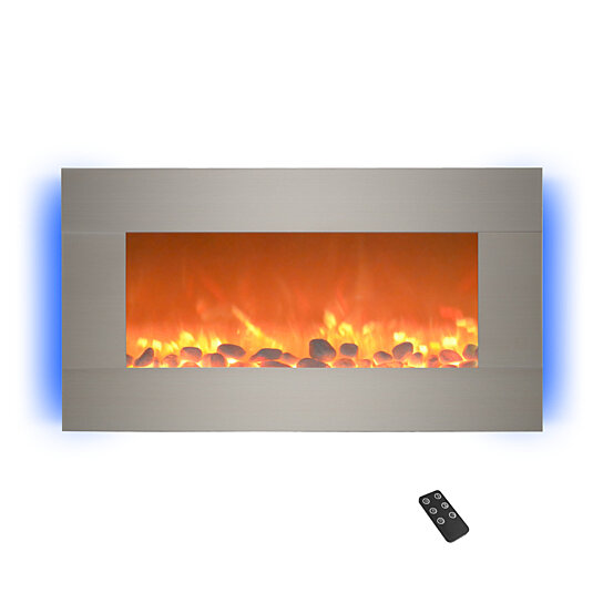 Buy Electric Fireplace Wall Mounted Adjustable Heat Remote