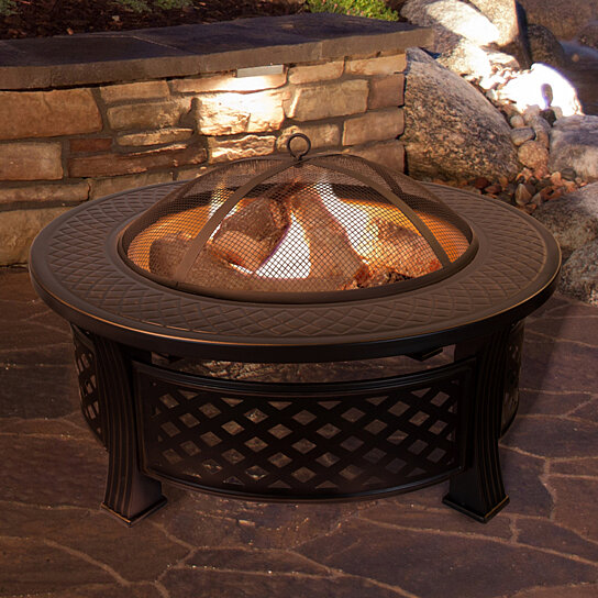 Buy Fire Pit Set Wood Burning Pit Includes Spark Screen