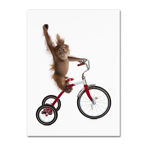 J Hovenstine Studios 'Monkeys Riding Bikes #2' 14 x 19 Canvas Art