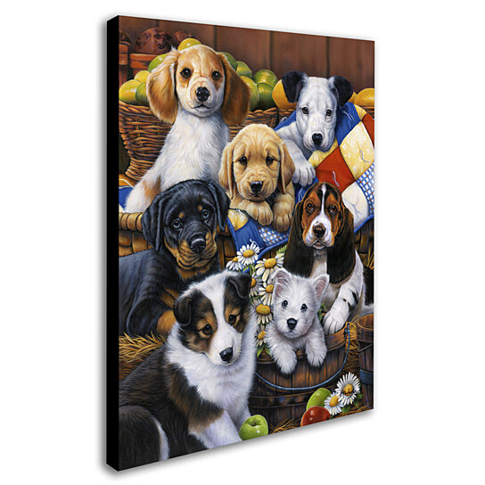Country Bump Kin Boutique Home: Buy Jenny Newland 'Country Bumpkin Puppies' Canvas Wall