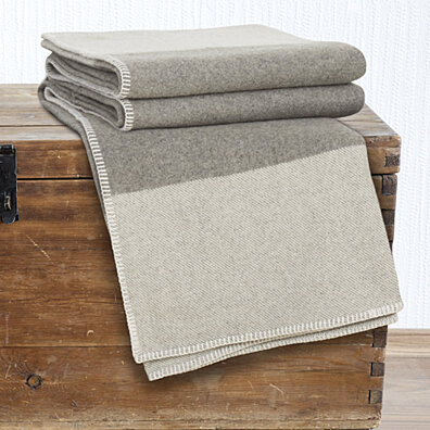 Lavish Home 100% Australian Wool Blanket - King - Platinum