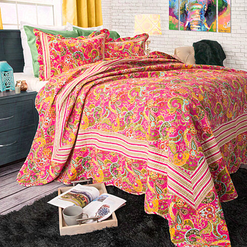 Lavish Home 2 Piece Paisley Quilt Set - Twin