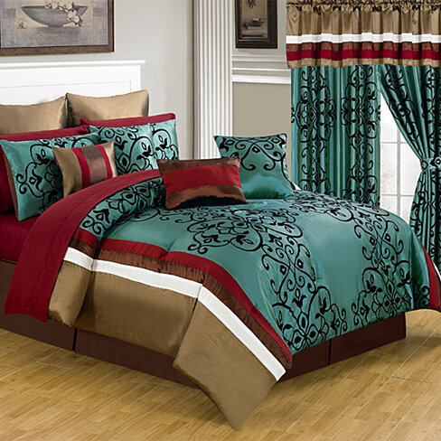 Lavish Home 25 Piece Room-In-A-Bag Eve Bedroom Set - King