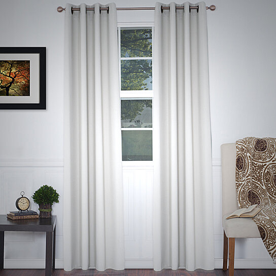 Buy Lavish Home Blackout Grommet Curtain Panel 84 Inch Length Ivory By Destination Home On