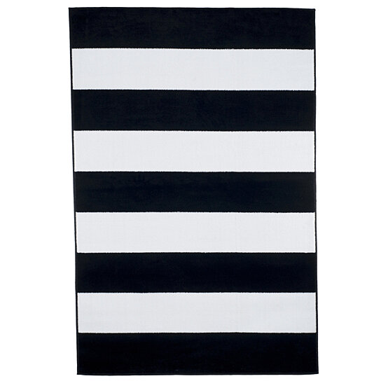 Buy Lavish Home Breton Stripe Area Rug Black Amp White 5