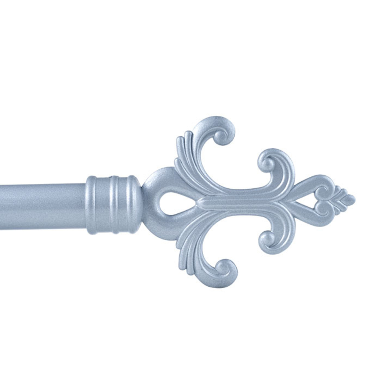 Lavish Home Fleur Curtain Rod 3/4 Inch Silver