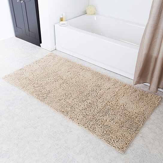 Buy Lavish Home High Pile Shag Rug Carpet Beige 30 X 60