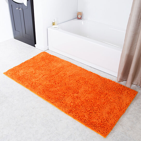 Buy Lavish Home High Pile Shag Rug Carpet Orange 30x60