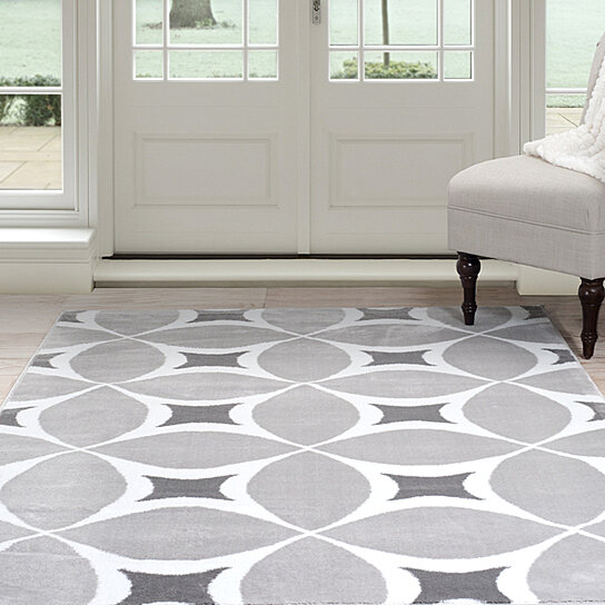 Buy Lavish Home Jane Area Rug 8 X10 Grey Amp White By