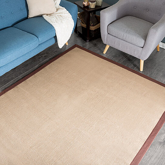 Lavish Home Jute Rug 5 X7 7 Chocolate Border By Destination On Opensky