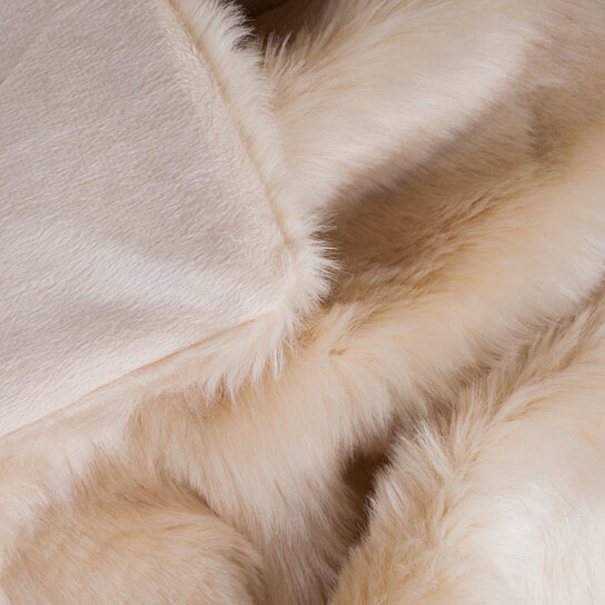 Buy Lavish Home Luxury Long Haired Faux Fur Throw Beige