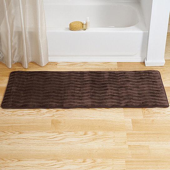 Buy Lavish Home Memory Foam Extra Long Bath Rug Mat