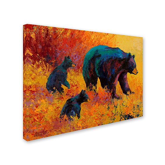 Buy Marion Rose 'Double Trouble Black Bear' Ready to Hang Canvas Art 35 x 47 Inches Made in USA ...