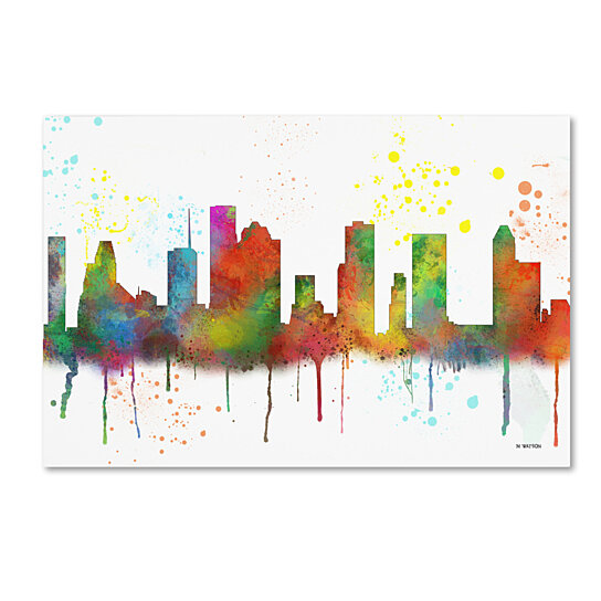 Buy Marlene Watson Houston Texas Skyline Mclr 1 Canvas