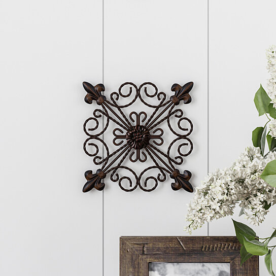 Art Décor: Buy Medallion Metal Wall Art 8 Inch Square Metal Home