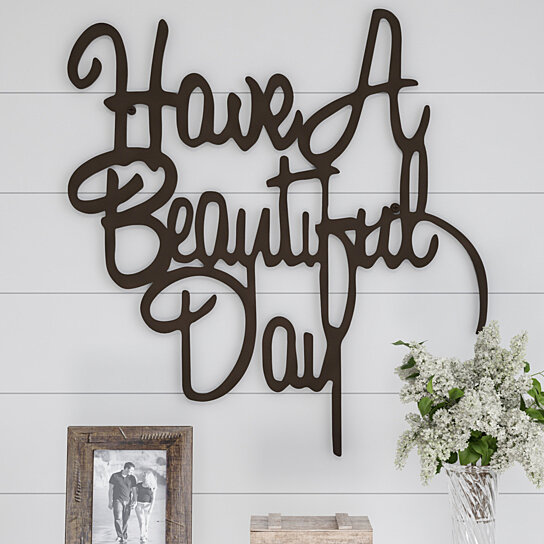 Buy Metal Cutout-Have a Beautiful Day Decorative Wall Sign ...