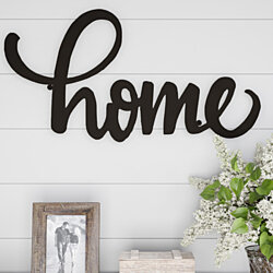 Metal Cutout- Home Decorative Wall Sign-3D Word Art Home Accent Decor