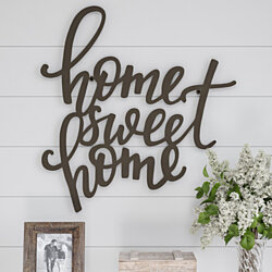 Metal Cutout- Home Sweet Home Decorative Wall Sign-3D Word Art Home Accent Decor