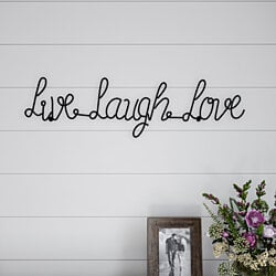 Metal Cutout- Live Laugh Love Cursive Cutout Sign-3D Word Art Home Accent Decor