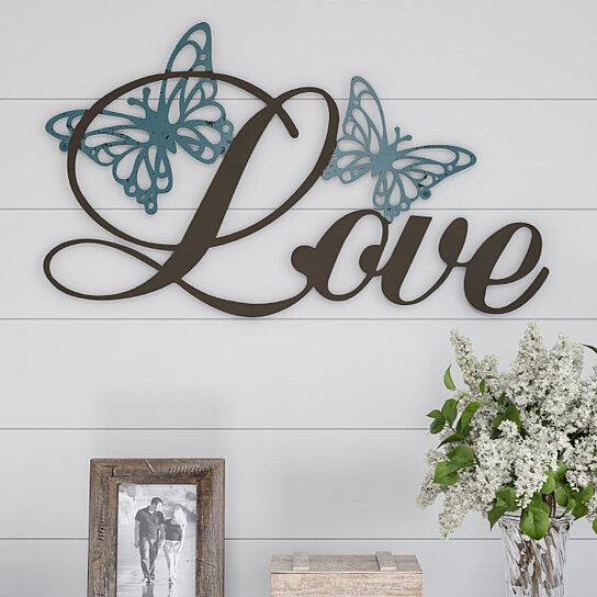 Buy Metal Cutout- Love Decorative Wall Sign-3D Word Art ...