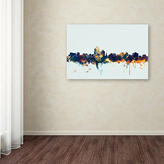 Buy Michael Tompsett Albuquerque Nm Skyline Blue Canvas
