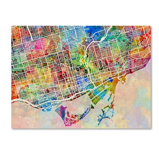 Buy Michael Tompsett 'Toronto Street Map' Canvas Wall Art