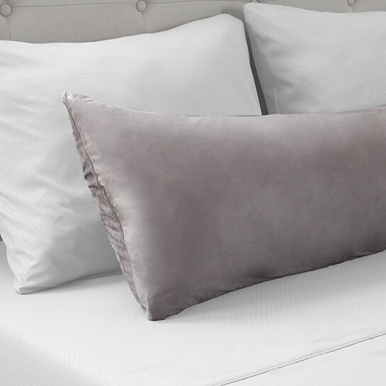 Body Pillow Covers.Microsuede Body Pillow Cover Pillowcase Zippered Washable 51 X 17 Inches Gray