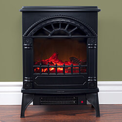 Northwest Free Standing Electric Log Fireplace Thermostat Control 21 x 16 x 10 Inch