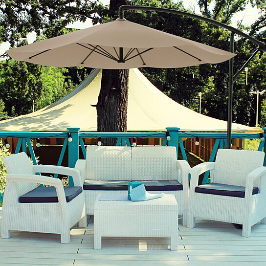 Buy Patio Umbrella Cantilever Hanging Outdoor Shade Easy Crank And
