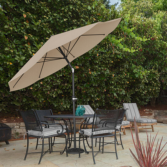 Superieur Buy Patio Umbrella With Auto Tilt  Easy Crank Outdoor Table Umbrella Shade  10 Ft Sand By Destination Home On Dot U0026 Bo