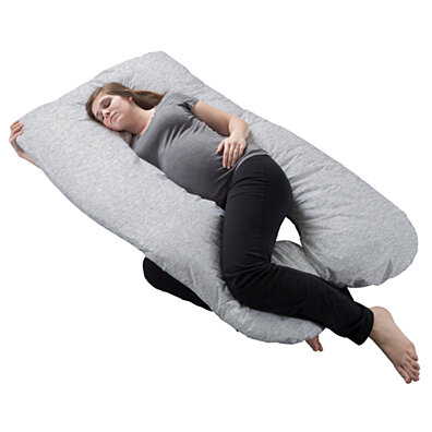 Memory Foam Body Pillow Charcoal Infused Aching Legs RLS Zippered Bamboo Cover