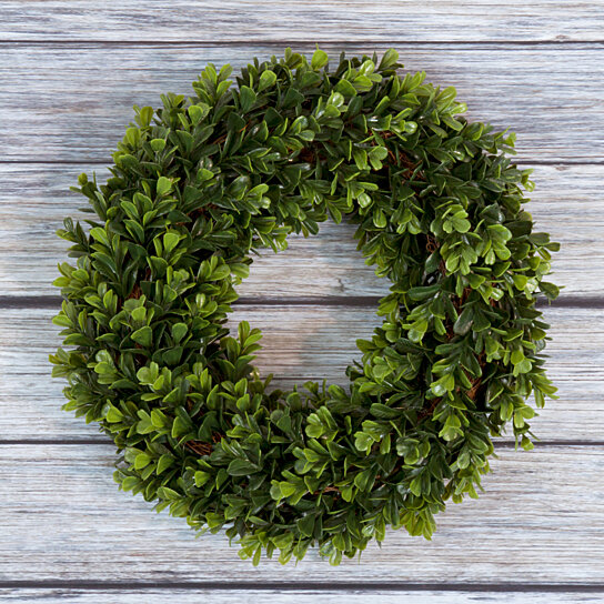 Buy Pure Garden Boxwood Wreath   12 Inch Round By Destination Home On Dot U0026  Bo