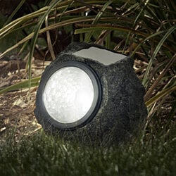 Pure Garden LED Solar Rock Landscaping Lights - Set of 4