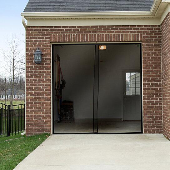 Buy pure garden one car garage screen curtain black 114 for 18 x 8 garage door screen