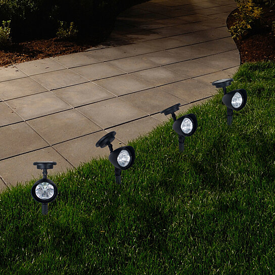 Buy Pure Garden Outdoor Solar Yard Spot Lights Set Of 4 By Destination Home On Opensky