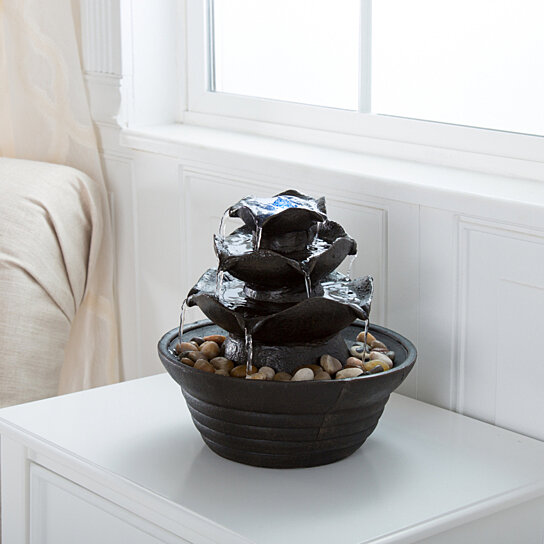 Buy Pure Garden Three Tier Cascading Tabletop Fountain With LED Lights By  Destination Home On OpenSky