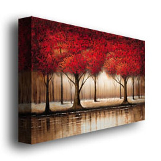 Buy Rio Parade Of Red Trees Canvas Art 16 X 24 By