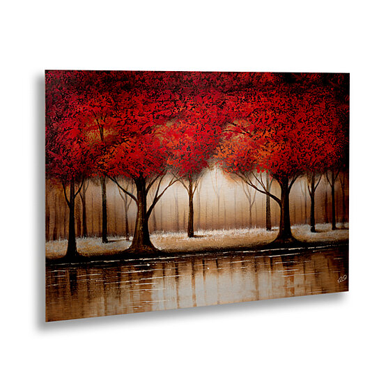 Buy Rio Parade Of Red Trees Floating Brushed Aluminum