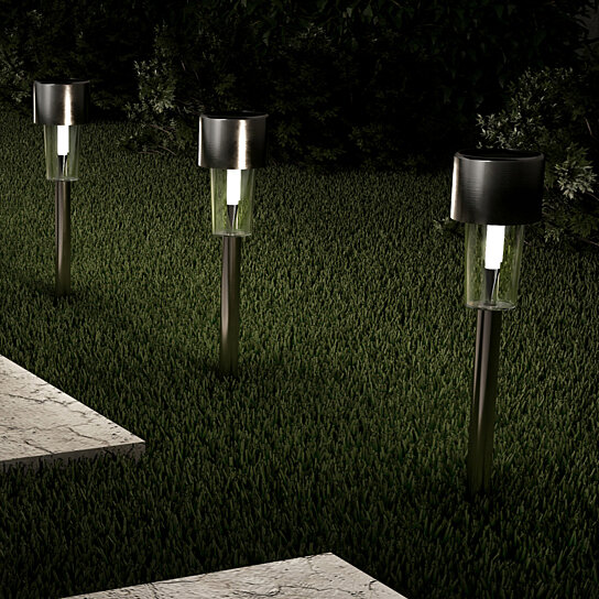 Driveway Solar Lights For Sale: Buy Set Of 12 Solar Lights Pathway Garden Patio LED
