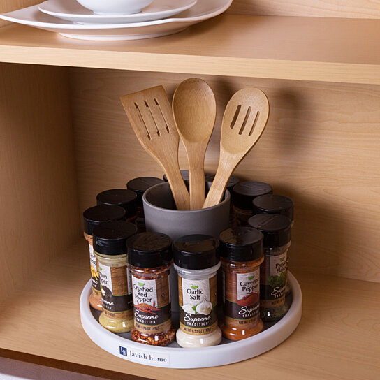 Set of 2 Lazy Susan Turntable Spinners Cupboard Cabinet Kitchen Organizer  12 In