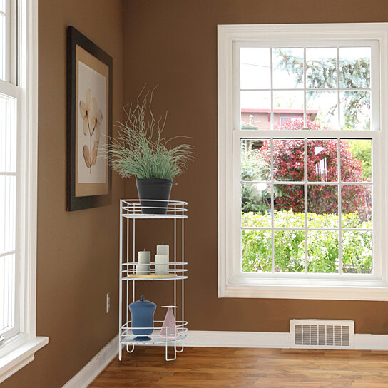Buy Standing Corner Shelf-3 Tier Wire Storage Rack for ...