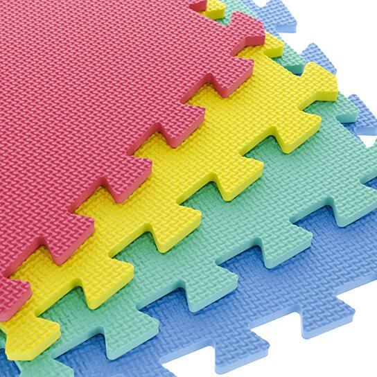 16 Pcs of Colorful EVA Foam Exercise Mat 12 x 12 Inch Interlocking Flooring  Yoga Tiles Anti Fatigue
