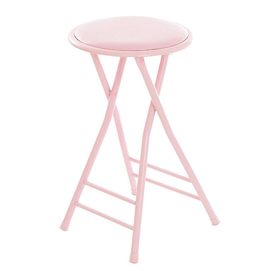 Awesome Pink Folding Stool Heavy Duty 24 Inch Collapsible Padded Round Stool With 300 Pound Limit Bralicious Painted Fabric Chair Ideas Braliciousco