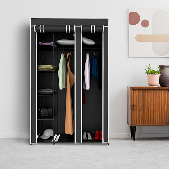 Buy Wardrobe Closet Organizer with Dust Cover Free Standing