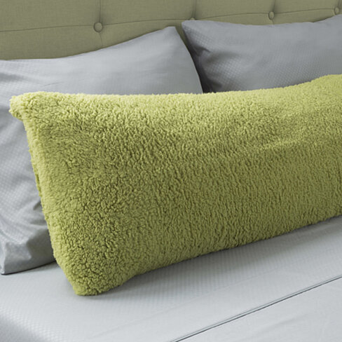 Warm Body Pillow Cover Soft Comfy Pillow Case Zippered Washable 52 x 18 inches Pistachio