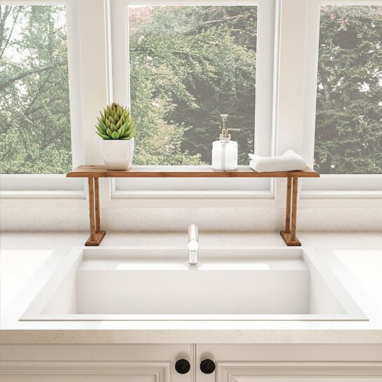 Wooden Bamboo Sink Shelf Countertop